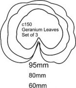 GERANIUM LEAVES SET OF 3 C150